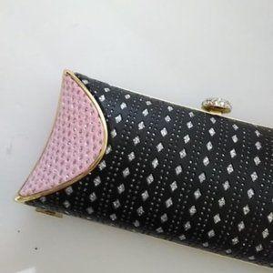 Seleni Bags - Elegant/Unique/Pretty Pink & Black Sequin Clutch